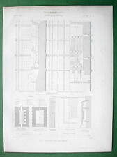 ARCHITECTURE PRINT : Engineering Enamelling Oven Details Sections