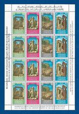 U36 - Jordan ancient mouments stamps 2 blocks of  12 each MNH**  OG 2 scans