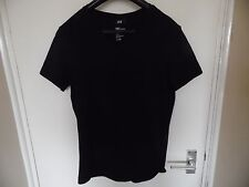 Mens black V neck T-shirt from H&M size S