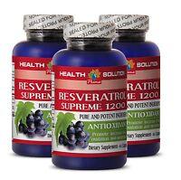 Resveratrol Powder - Resveratrol Supreme 1200mg Anti-Aging (3 Bottles)