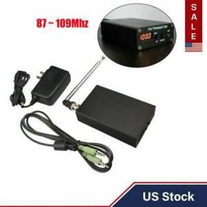 1mW Stereo Home FM TRANSMITTER + Antenna + Power Supply Mini Radio Station USA
