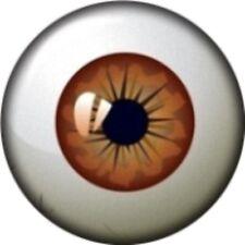 Snap button  Brown Eye 18mm Cabochon chunk charm