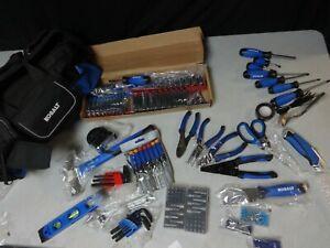 HUGE Kobalt Tool Kit Set Sockets Wrench Bag Pliers Ratchets Screwdrivers