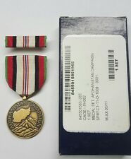 NEW Afghanistan Campaign full size Medal Set 8455-01-527-8027