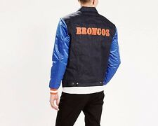 Levi's DENVER BRONCOS NFL Denim Varsity Trucker Button-Up Jacket-Size L Large