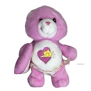 Care Bear Plush Baby Hugs Bear 10 inch light Pink Heart star Belly Diaper pillow