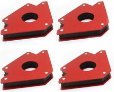 4pcs Welding Arrow Magnet Set Mini Weld Holder Up to 75 Lb at 45 90 or 135 Deg
