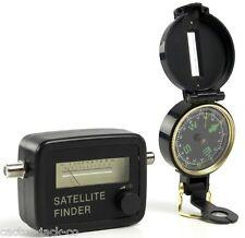 Buscador Satélite Medidor de señal de satélite Kit brújula Funda de plomo