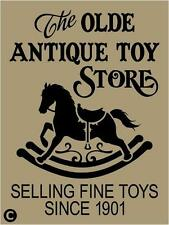Primitive STENCIL, THE OLDE ANTIQUE TOY STORE, Vintage Advertising Rocking Horse