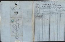"""BEAUCOURT (90) QUINCAILLERIE / POMPES """"JAPY Freres & Cie"""" voyagée Octobre.1872"""