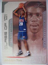 2001-02 Flair Damone Brown R/C 0447 / 1500 76ers , ! Box5