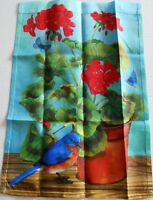 """Decorative Garden Flag 12 1/2' x 18""""  Potted Plant with Colorful Bird"""