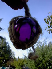 3 inch tall  PURPLE CURIO GLASS FLOAT BALL BUOY BOUY