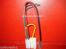TAIT T2000 POWER PLUG WITH LEADS FOR  AUDIO T321 T221 & UHF TAXI RADIO METER