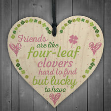'Friends Are Like' Friendship Best Friend Plaque Wood Heart Thank You Love Gift