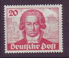 Berlin 1949 postfrisch MiNr.  62   Johann Wolfgang von Goethe