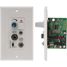 Pro2 audio Power PA amplifier wall plate 3.5mm line/ microphone input PRO1328WP