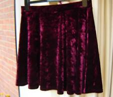 Topshop Skirt Size 12 Skater Style Maroon Burgundy Red Made in Britain