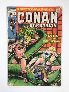 Conan The Barbarian #7 (Marvel Comics 1971) 1st Cameo Thoth Amon G/VG