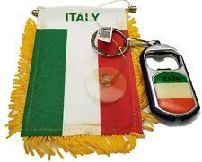 Italian Flash Light Bottle Opener keychain key chain Italy Flag Mini Banner (2PC