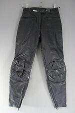 ASHMAN BLACK COWHIDE LEATHER BIKER TROUSERS SIZE 12:WAIST 28 IN/INSIDE LEG 29 IN