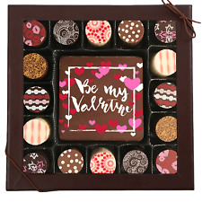 Chocolate Works Valentines Day Chocolate Card & Truffles 17 Pieces