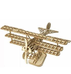 Robotime Airplane 3D Wooden Puzzle, Laser Cut Parts, TG301