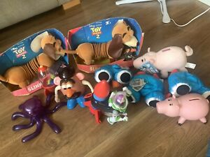Rare Toy Story Bundle, Lenny, Slinky, Hamm, Rocket Buzz, Homedics Mr Potato Head