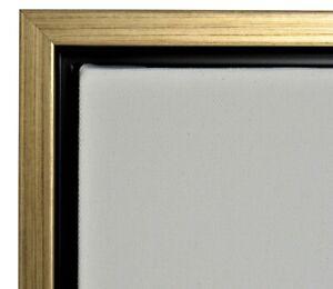 "Gold Floater Frame for 3/4"" deep Canvas"