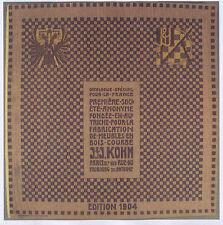 THONET CATALOGUE JACOB & JOSEF KOHN 1904 & 1907