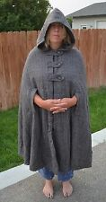 Women's Cape with Hood Tweed, arm slots, lined, vintage (?), hooded cloak