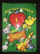 "NEW Dog Bone Biscuit Cookie Cutter 3"" + Heart Cutter w/ Dog Biscuit Recipe"