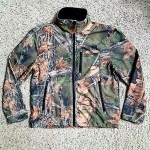 Trail Crest Highland Timber Full Zip Camo Hunting Fleece Jacket Medium M 68337