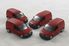 4 Stück / pieces !!!!    VW Caddy Van 2005 - red - Minichamps 1:43