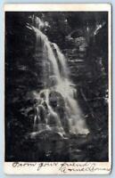 1906 CHESTERFIELD BORDENTOWN NEW JERSEY*NJ*POSTMARK*WATERFALLS*TO BESSIE JOHNSON