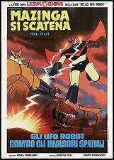 GLI UFO ROBOT CONTRO GLI INVASORI SPAZIALI MANIFESTO 1977 TOEI MAZINGA POSTER 2F