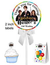 40 Harry Potter Birthday Party Lollipop Stickers for Goody Bags Favors Etc