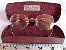 Antique Vintage 12K Gold Filled Spectacles Glasses With Case