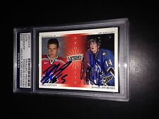 Dany Heatley Signed 2000-01 Upper Deck Victory Rookie Card PSA Slabbed #83703601