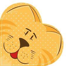 12 Paper HEART Napkins PEDIGREE CAT Serviettes KIDS PARTY DECOUPAGE Crafts Ø32cm