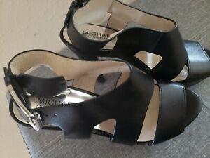 Michael Kors Black Healed Strappy Sandals 7