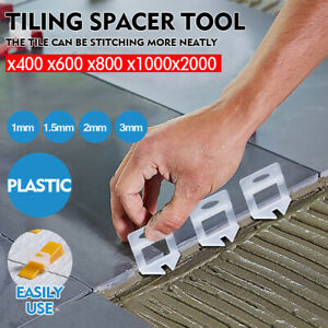 400-2000x Tile Leveling System Clips Levelling Spacer Tiling Tool Floor Wall