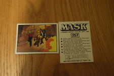 Mask Panini sticker 1986 ( M.A.S.K.  Kenner parker toys ) number 257