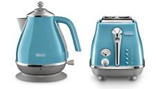 Delonghi CTOC2003/KBOC2001AZ Icona Capitals 2 Slice Toaster + Kettle PACK - Blue