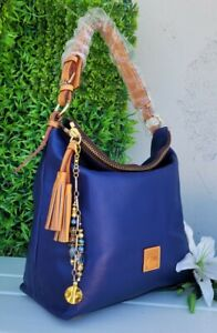NEW DOONEY&BOURKE McKenzie smooth leather blue large shoulder hobo purse handbag