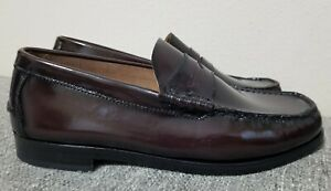 Florsheim Berkley Penny Loafers Burgundy Slip on Dress Shoes Men's New Size 9 3E