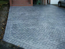New Brick Herringbone Sanded Grout Decorative Concrete Cement Stamp Mat Floppy