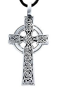 Keltenkreuz Anhänger Zinn inkl. Band Pewter Kreuz Kelten keltisch Radkreuz Nr.11