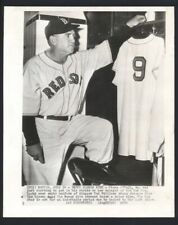 1950 Boston Red Sox STEVE O'NEILL w/ Ted Williams Uniform Vintage Wire Photo