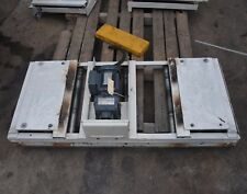 1.33m x 60cm wide powered roller conveyor system box handling 0.55kW motor